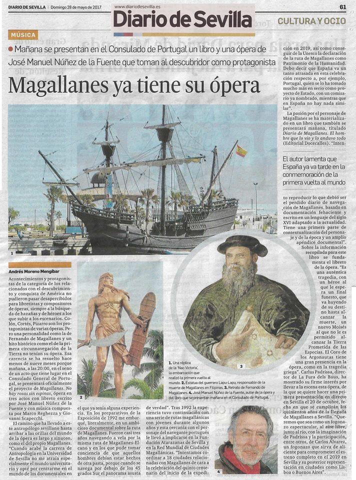 Diario de Sevilla Magallanes Libro y ópera